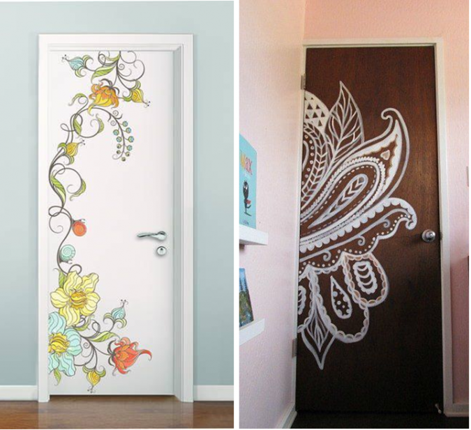 painted-doors-675x617 10 Awesome Decor Ideas to Borrow from Pinterest Influencers