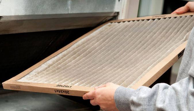 AC-dirty-air-filter-675x388 Fast Repairs for Leaking Central Air Conditioning Systems