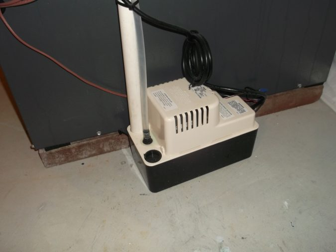 air-conditioner-condensate-pump-675x506 Fast Repairs for Leaking Central Air Conditioning Systems