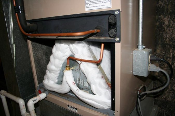 air-conditioner-frozen-drain-line-675x450 Fast Repairs for Leaking Central Air Conditioning Systems