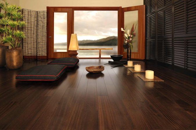 dark-wood-floors-home-decoration-675x449 10 Wood Floors Design Ideas for Living Rooms