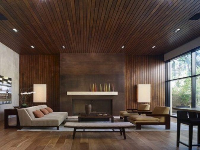 home-decoration-living-room-Wood-Ceiling-and-Floors-675x506 10 Wood Floors Design Ideas for Living Rooms