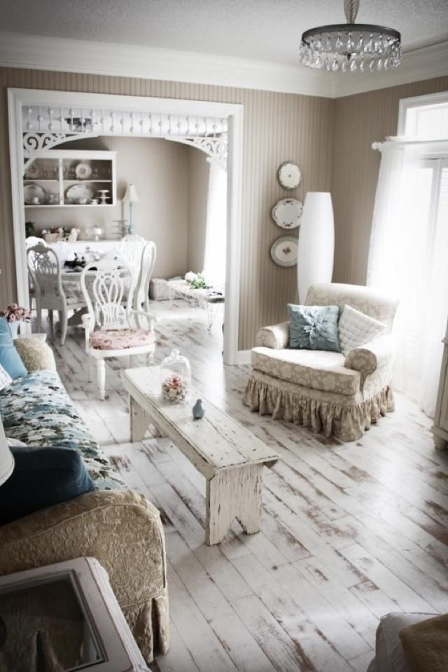home-decoration-living-room-painted-wood-floor 10 Wood Floors Design Ideas for Living Rooms