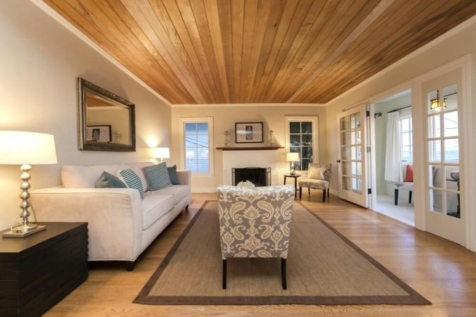home-decoration-living-room-with-Wood-Ceiling-and-Floors-675x450 10 Wood Floors Design Ideas for Living Rooms