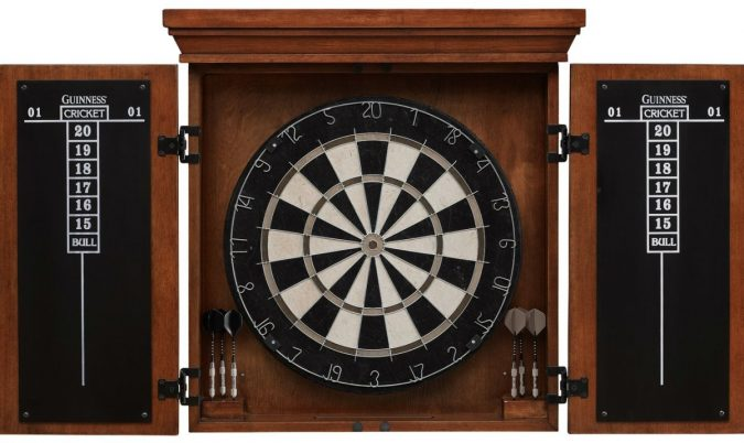 dartboard-with-cabinet-675x402 How to Choose the Best Outdoor Dartboard