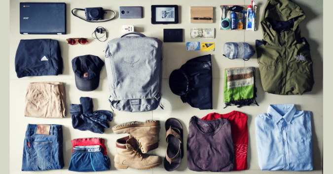 travel-packing-Less-Clothing-675x353 10 Packing Essentials Tips for Your Next Adventure Holiday