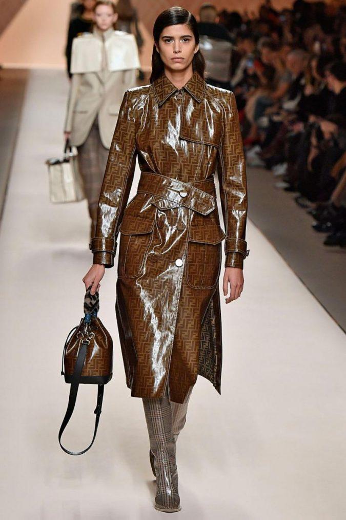 vinyl-coat-winter-fashion-2018-675x1013 80 Elegant Fall & Winter Outfit Ideas 2020