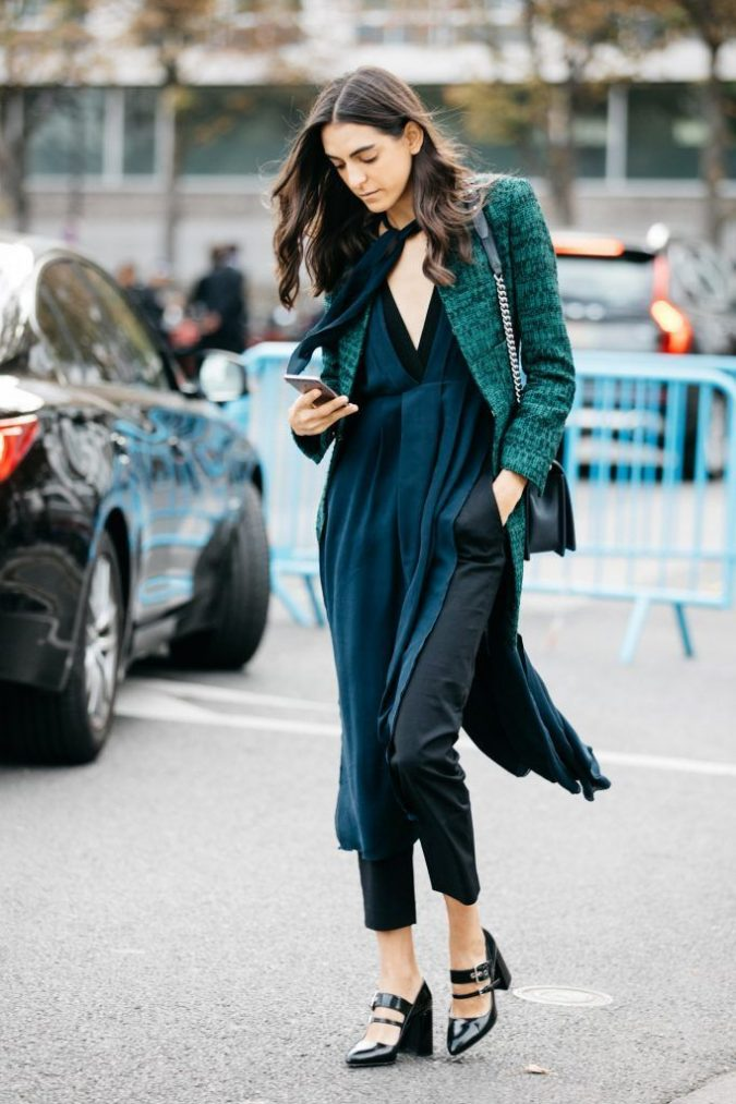 winter-outfit-2018-emerald-green-675x1013 80 Elegant Fall & Winter Outfit Ideas 2018/2019