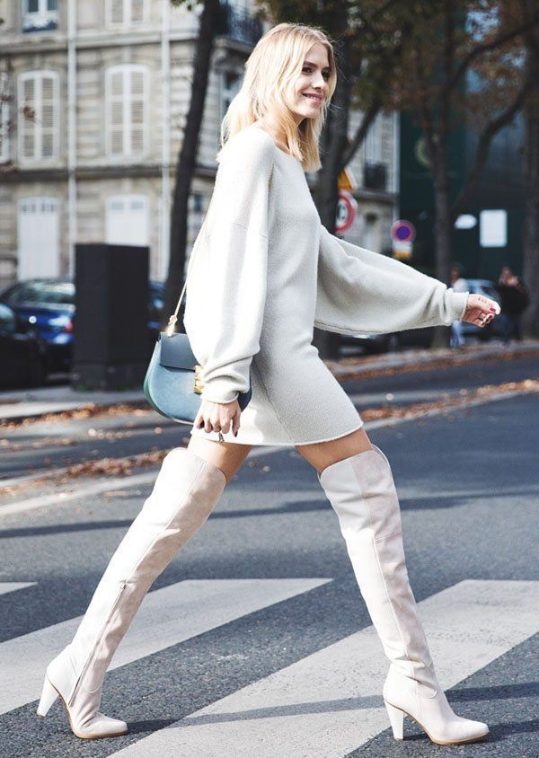 winter-outfit-white-boots-collage-vintage 80 Elegant Fall & Winter Outfit Ideas 2020