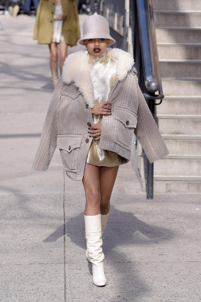 winter-outfit-white-boots-marc-jacobs-fall-2017-collection-new-york-fashion-week-675x1014 80 Elegant Fall & Winter Outfit Ideas 2020