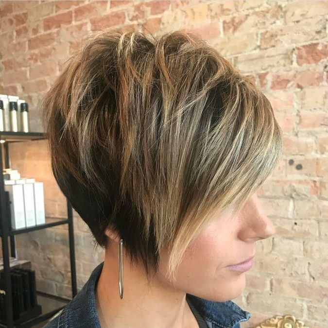 Asymmetrical-Undercut-Shaggy-Pixie-hairstyle-With-Side-Swept-Bangs-675x675 Best 10 Trendy Short Hairstyles With Bangs