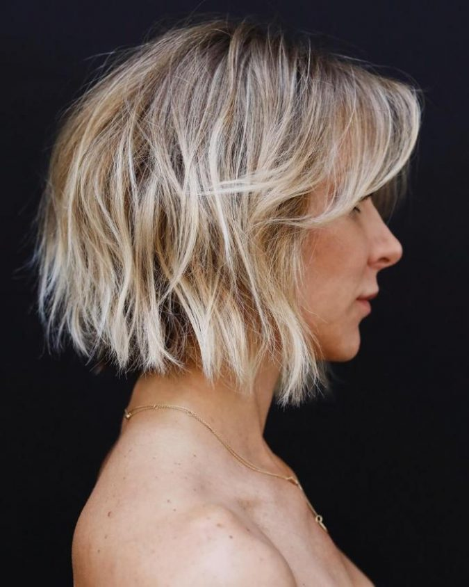 Choppy-Short-Bob-with-Bangs-675x844 Best 10 Trendy Short Hairstyles With Bangs