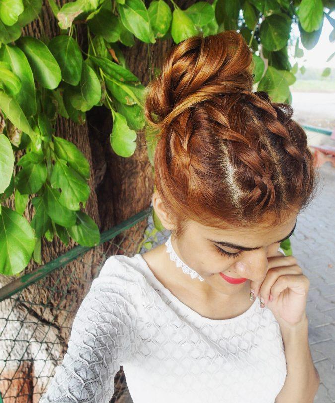 Dutch-Braid-Bun-hairstyle-2-675x811 +12 Most Stylish Hairstyles Women Will Love to Make in 2020