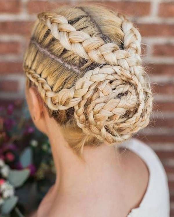 Dutch-Braid-Bun-hairstyle Top 12 Hairstyles Women Will Love to Make in 2019