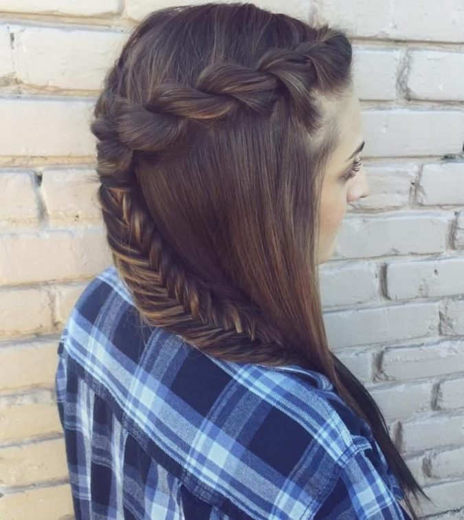 Half-Up-Rope-Braids-and-fishtale-braid-675x756 +12 Most Stylish Hairstyles Women Will Love to Make in 2020