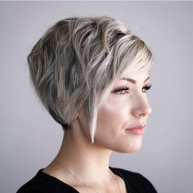 Short-Stacked-Inverted-Bob-with-Fringe-675x675 Best 10 Trendy Short Hairstyles With Bangs