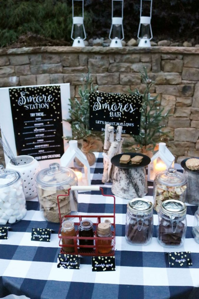 backyard-party-smore-bar-set-up-table-outside-675x1012 Best 10 Trending Backyard Party Ideas for All the Party Freaks Out There