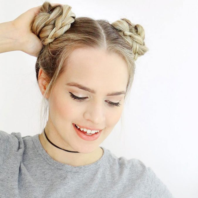 braided-space-buns-675x675 Top 12 Hairstyles Women Will Love to Make in 2019