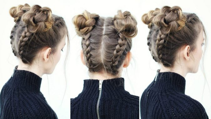 braided-space-buns-hairstyle-675x380 +12 Most Stylish Hairstyles Women Will Love to Make in 2020