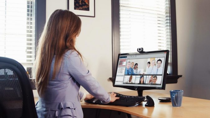 business-computer-Video-Conferencing-Woman-in-office-on-VTR-computer-675x380 The Next Level Training Platform for Your Business