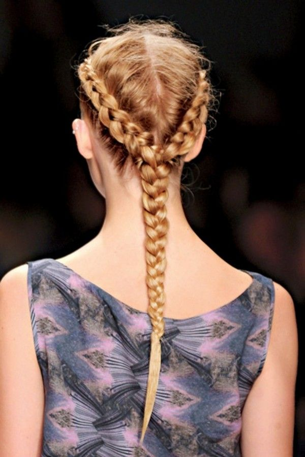 hairstyles-two-braids-into-one Top 10 Most Stylish Back to School Hairstyles 2018/2019