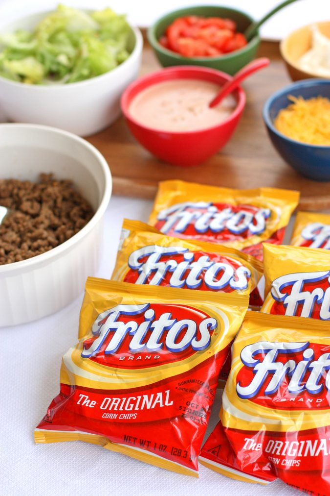 party-Bags-of-Corn-Chips-for-Tacos-toppings-675x1012 Best 10 Trending Backyard Party Ideas for All the Party Freaks Out There
