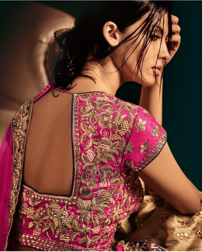 pink-choli-lehenga-1-675x843 Shop Perfect Lehenga Online [Top Lehenga Saree Designs]