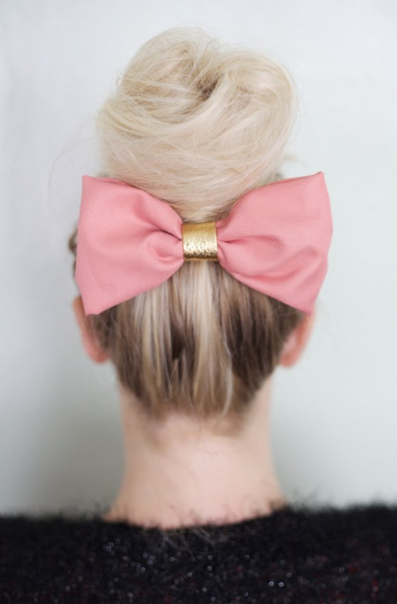 school-hairstyles-Bun-and-Bow-2 Top 10 Trendy Back to School Hairstyles 2020