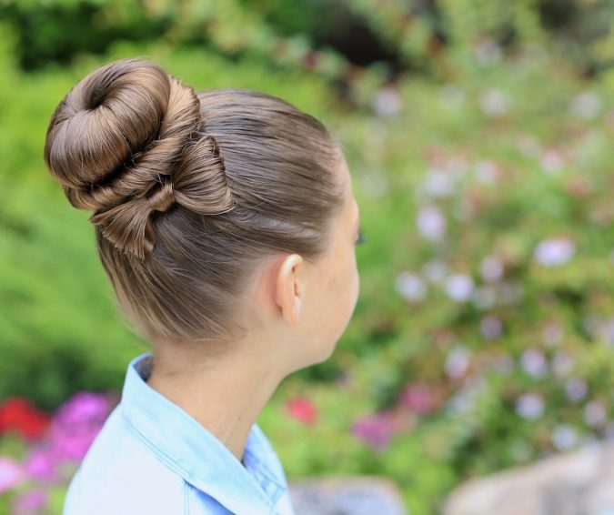 school-hairstyles-Bun-and-Bow-675x566 Top 10 Trendy Back to School Hairstyles 2020