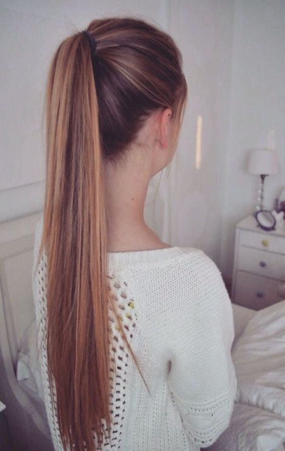 school-hairstyles-High-Ponytail Top 10 Most Stylish Back to School Hairstyles 2018/2019