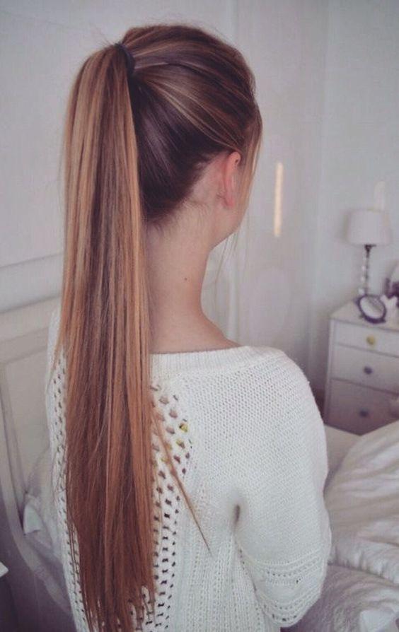 school-hairstyles-High-Ponytail Top 10 Trendy Back to School Hairstyles 2020
