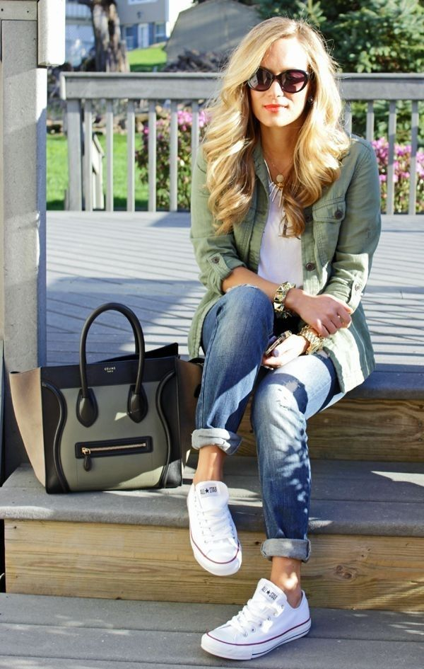 school-outfits-Boyfriend-Jeans Top 12 Trending Back-to-School Outfits 2018/2019