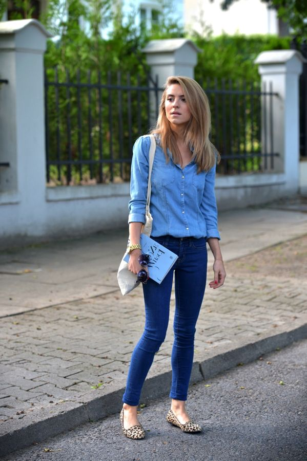 school-outfits-Denim-Shirt-1 Top 12 Trending Back-to-School Outfits 2018/2019