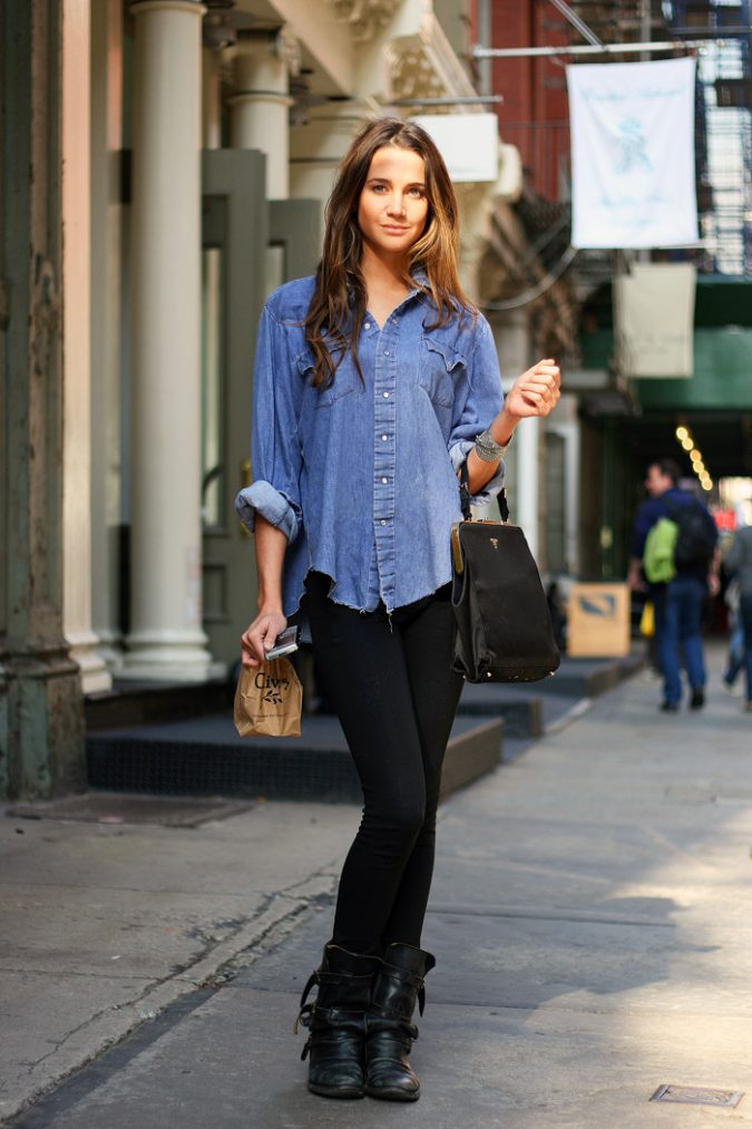 school-outfits-Denim-Shirt-tumblr_lff6nj4MPZ1qe7l0zo1_1280-675x1013 Top 12 Trending Back-to-School Outfits 2018/2019