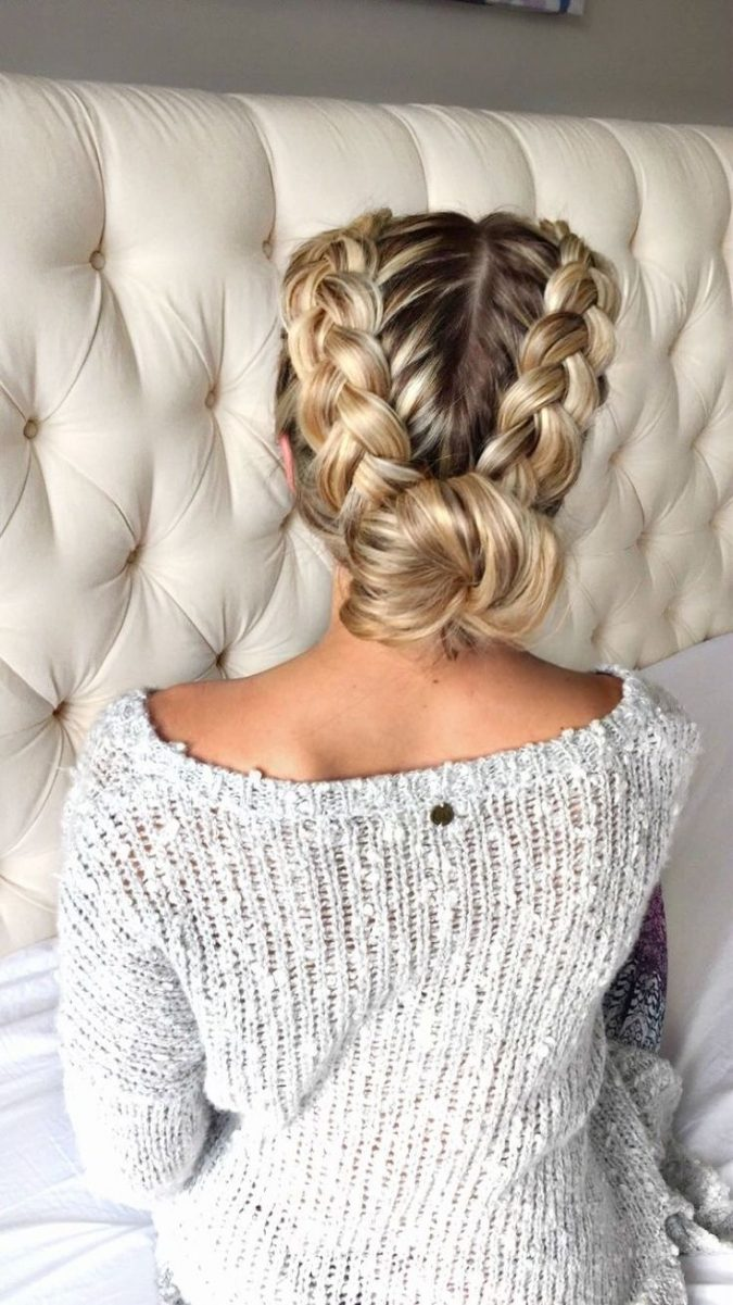 side-Braids-into-bun-675x1201 +12 Most Stylish Hairstyles Women Will Love to Make in 2020