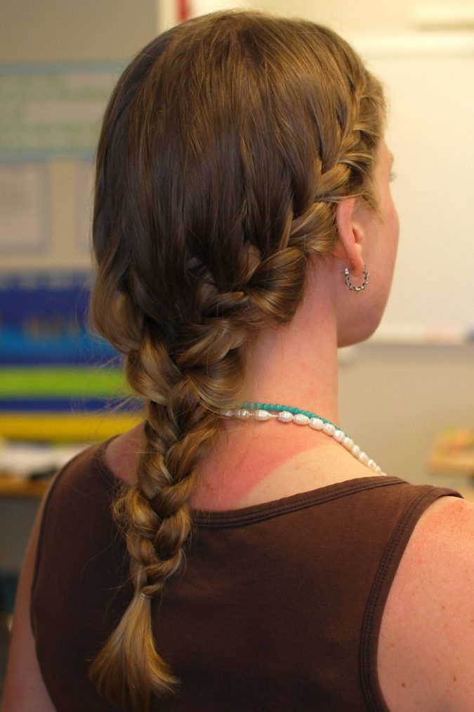 two-braids-into-one-675x1014 Top 10 Most Stylish Back to School Hairstyles 2018/2019