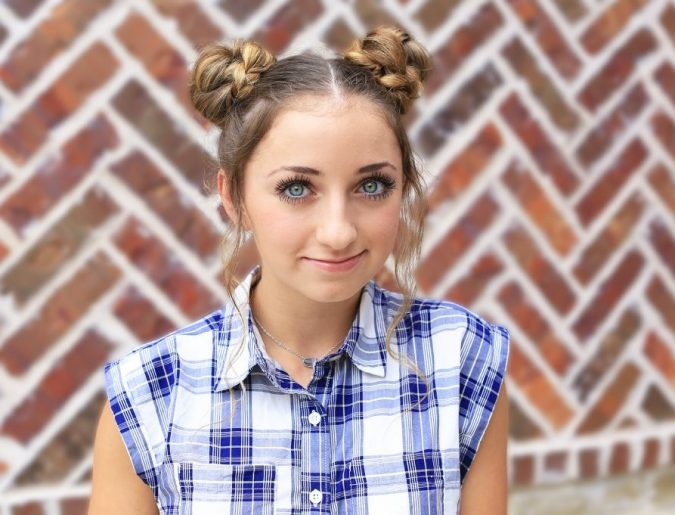 two-high-braided-buns-2-675x515 Top 10 Trendy Back to School Hairstyles 2020