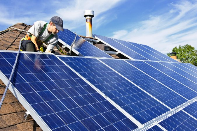 Solar-Panel-Installation-675x450 Environmental Benefits of Domestic Solar Energy Systems