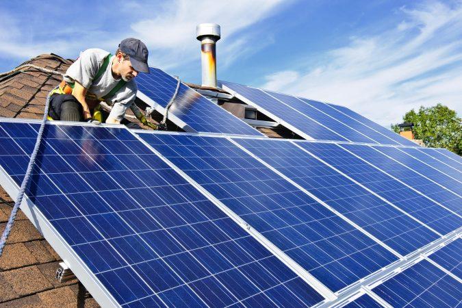 Solar-Panel-Installation-675x450 Environmental Benefits of Domestic Solar Energy Systems