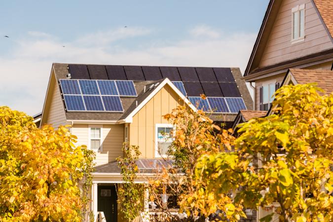 Solar-panels-Home-Fall-675x450 Environmental Benefits of Domestic Solar Energy Systems