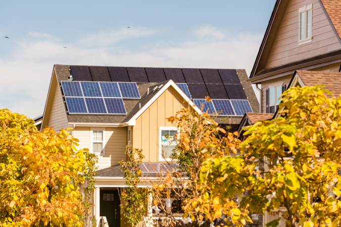 Solar-panels-Home-Fall-675x450 Environmental Benefits of Domestic Solar Energy Systems