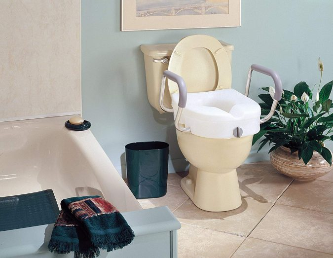 bathroom-with-elevated-toilet-675x523 Aging in Place: How to Make Your Home Senior-Friendly