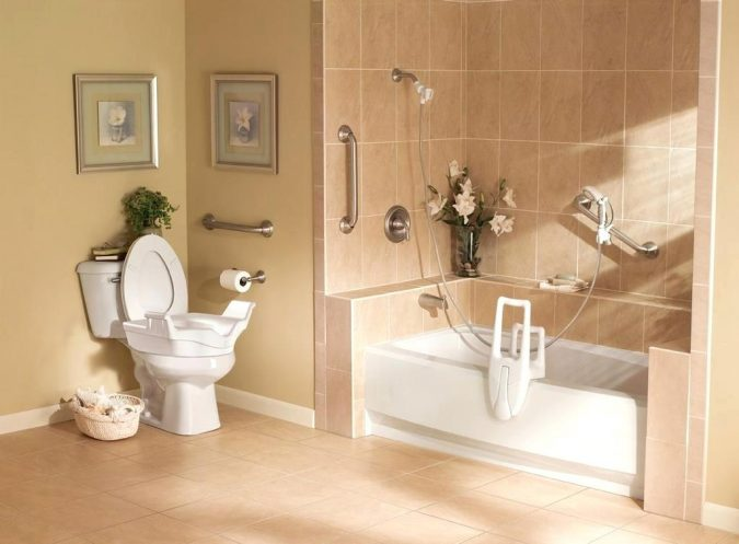 bathroom-with-hand-bars-675x497 Aging in Place: How to Make Your Home Senior-Friendly