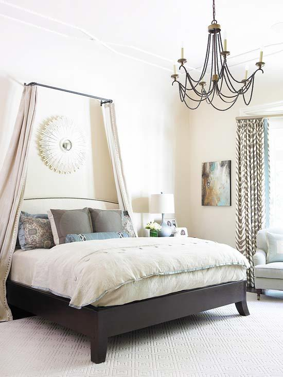 bedroom-chandelier Checklist: What to Consider When Decorating Your Bedroom