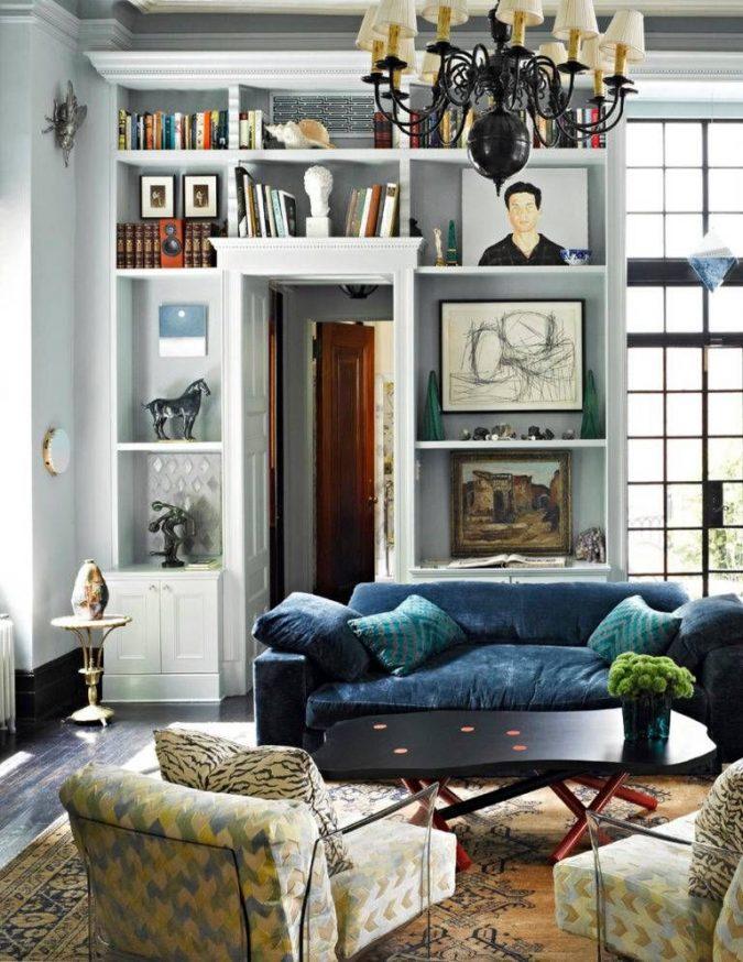 boho-and-classic-living-room-home-decor-2-675x874 +45 Stellar Boho Interior Designs & Trends for 2020