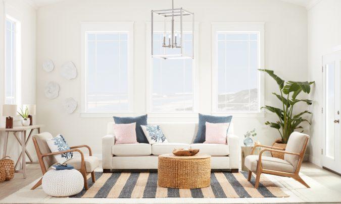 boho-coastal-home-decor-living-room-675x405 +45 Stellar Boho Interior Designs & Trends for 2020