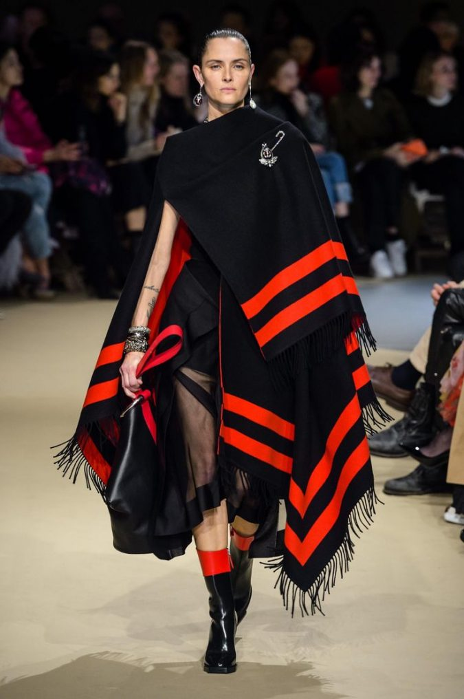 boho-fashion-alexander-Mcqueen-2019-cape-675x1016 70+ Elegant Winter Outfit Ideas for Business Women in 2019