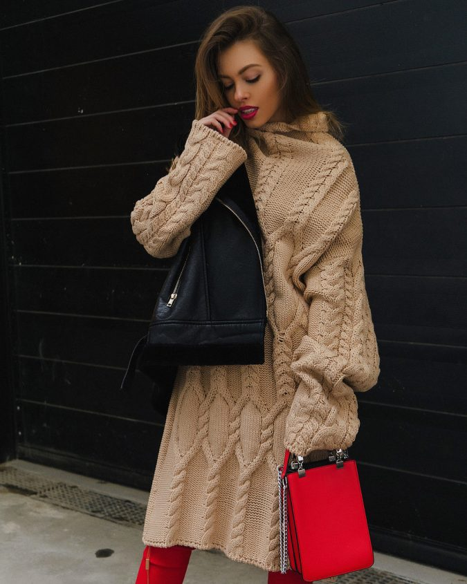 boho-fashion-knitwear-knitted-dress-skitzyou.5-2-675x845 70+ Elegant Winter Outfit Ideas for Business Women