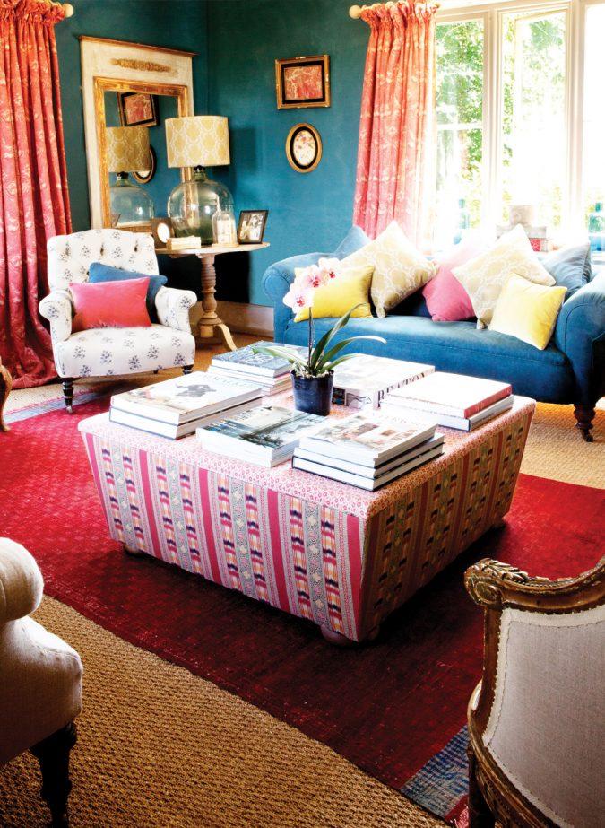 boho-home-decor-Ikat-Stripe-Drawing-Room-675x923 +45 Stellar Boho Interior Designs & Trends for 2020
