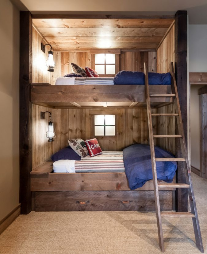 boho-home-decor-bedroom-ladder-675x827 +45 Stellar Boho Interior Designs & Trends for 2020